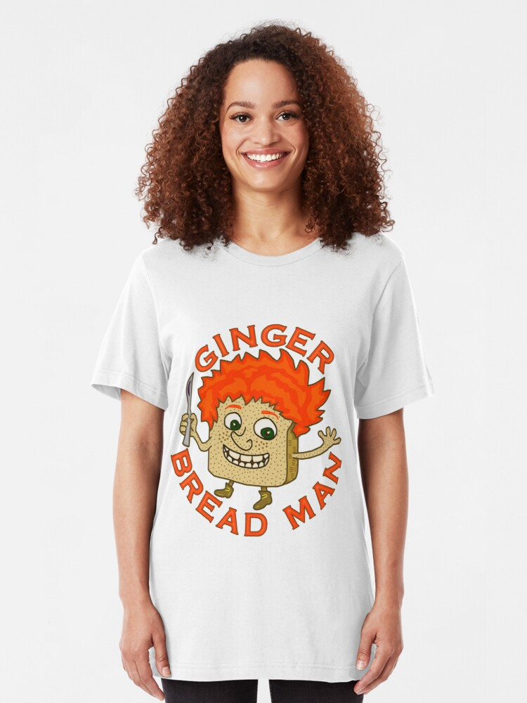 Alternate view of Funny Ginger Bread Man Christmas Pun Slim Fit T-Shirt