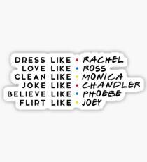 FRIENDS - RACHEL, ROSS, MONICA, CHANDLER, PHOEBE, JOEY Sticker