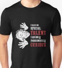 Camiseta unisex Cita de Albert Einstein Solo soy apasionadamente curioso