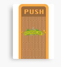 Adventureland Trash Can Design Canvas Print
