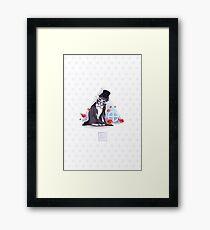 Tuxedo Cat (Tuxedo Mask) Rose Pattern Framed Print