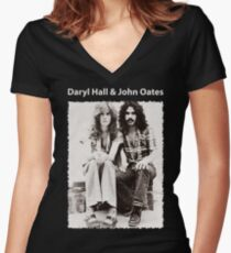 DARYL HALL & JOHN OATES Women's Fitted V-Neck T-Shirt