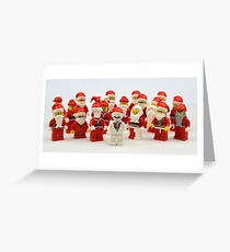 "Santa Showdown ""There Can Be Only One"" Greeting Card"