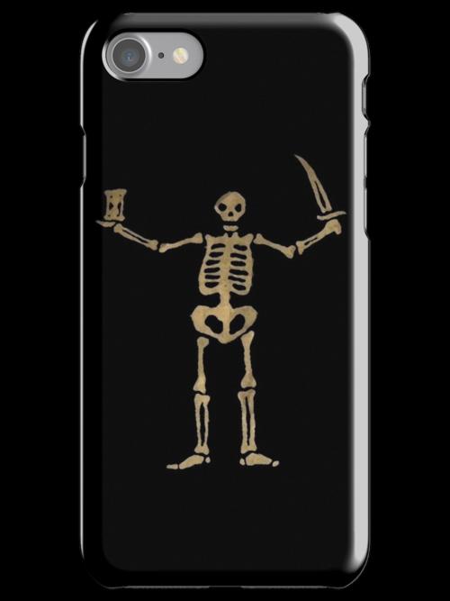 Black Sails Pirate Flag Skeleton - Worn look by EvaEV
