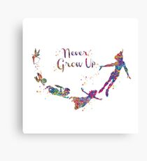 Never Grow Up Color Full Canvas Print