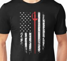 Vintage Fencing American Flag Unisex T-Shirt