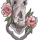 Endangered Beauty - Profits donated to Save the Rhinos by ChelseaGraceArt