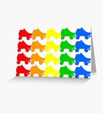 rainbow skates Greeting Card