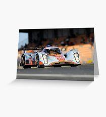 Aston Martin LMP 1 - Shot on Location at the 24hr du Mans. Greeting Card