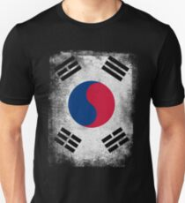 South Korea Flag Proud Korean Vintage Distressed Shirt Unisex T-Shirt