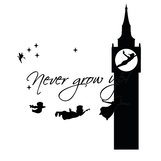 Never Grow Up Peter Pan Second Posters By Camposlove Redbubble