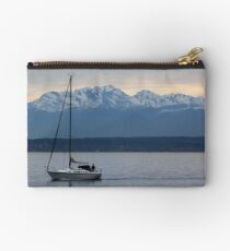 Sailing Before an Olympic Mountain Sunset Studio Pouch