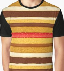 Sponge cake with assorted fillings background Graphic T-Shirt