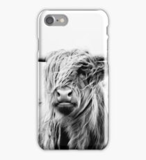 portrait of a highland cow (landscape format) iPhone Case/Skin
