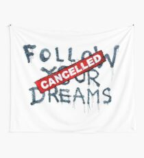 Banksy - Follow your dreams (part) Wall Tapestry