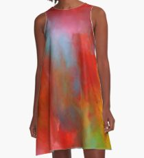 Interacting Colors A-Line Dress