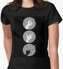 Rock, Paper, Scissor....hands Womens Fitted T-Shirt