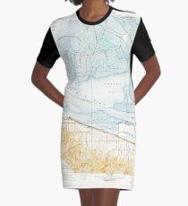 USGS TOPO Map California CA Honker Bay 296169 1918 31680 geo Graphic T-Shirt Dress