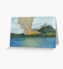 Fire's Reflection Greeting Card