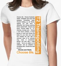Trainspotting 2 - Choose Life Womens Fitted T-Shirt