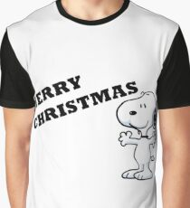 snoopy wishes you a Merry Christmas Graphic T-Shirt