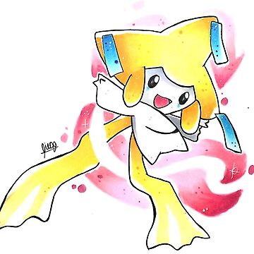 Jirachi the Wish Maker Pokémon by palepurplepaint