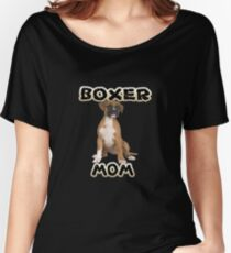 Boxer Dog Mom Mother Women's Relaxed Fit T-Shirt