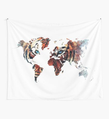 World Map 2067 Wall Tapestry