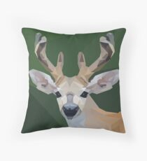 Minimalist Deer- King of the Forest Throw Pillow