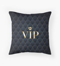 VIP abstract quilted background Throw Pillow
