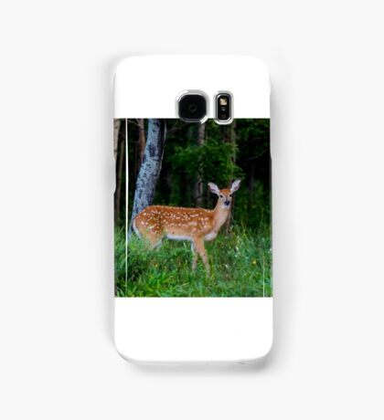 White-tailed fawn in the forest Samsung Galaxy Case/Skin