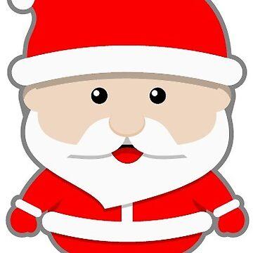 Cartoon Christmas Santa Claus Saint Nick by hiway9