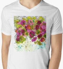 Dog-Rose. Autumn. V-Neck T-Shirt