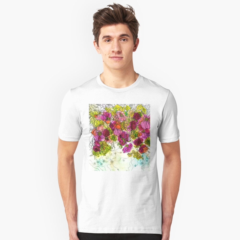 Dog-Rose. Autumn. Slim Fit T-Shirt