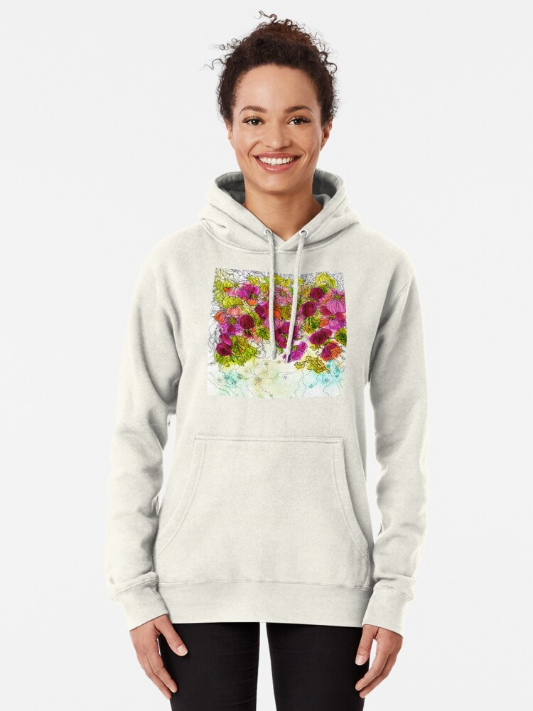 Alternate view of Dog-Rose. Autumn. Pullover Hoodie
