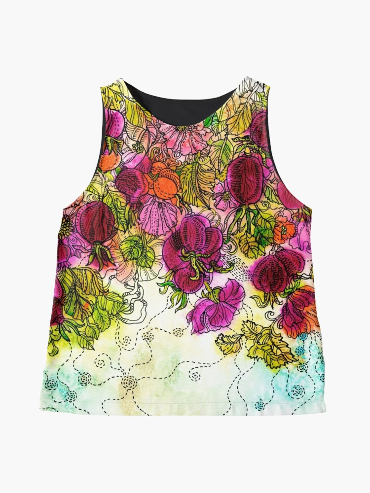 Alternate view of Dog-Rose. Autumn. Sleeveless Top