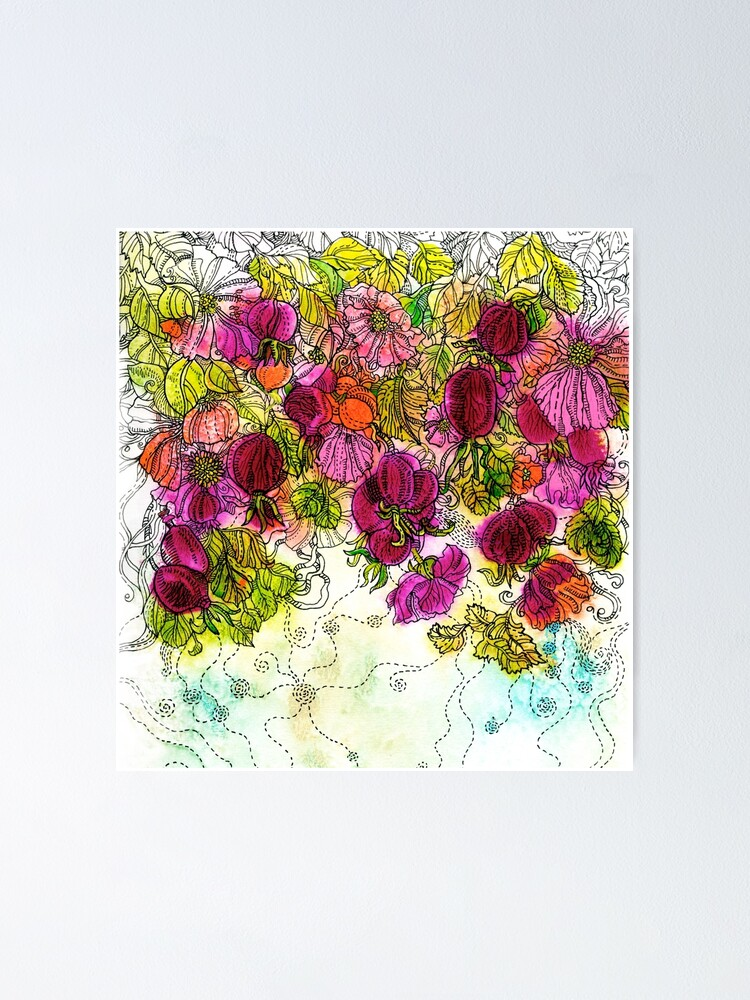Alternate view of Dog-Rose. Autumn. Poster