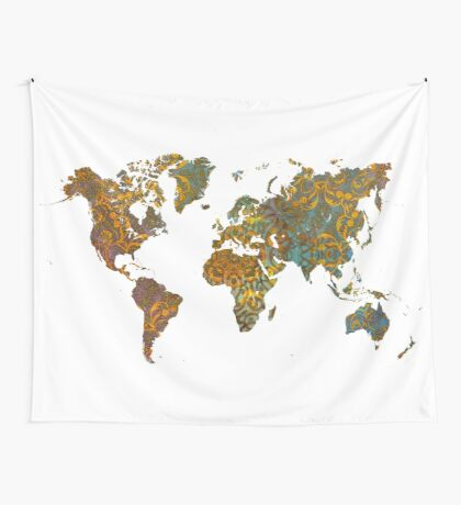 world map oriental Wall Tapestry