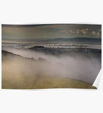 Swirling Mist on Hereford Beacon Poster