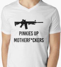 Pinkies Up MotherF*ckers Men's V-Neck T-Shirt