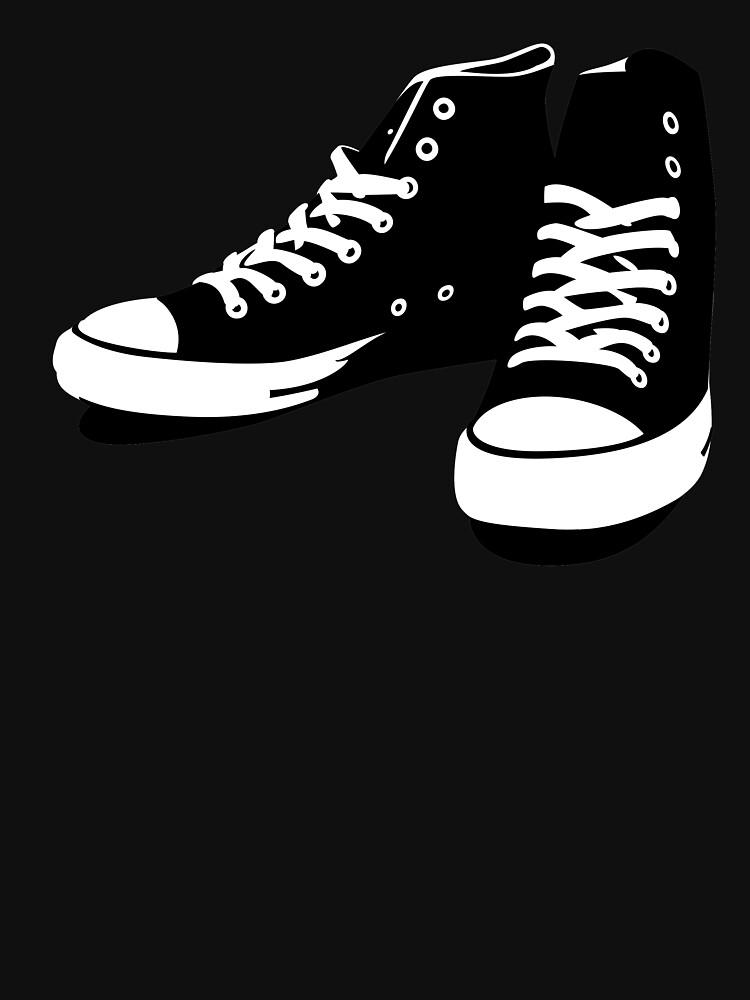 Zapatillas negro-blanco de medibu