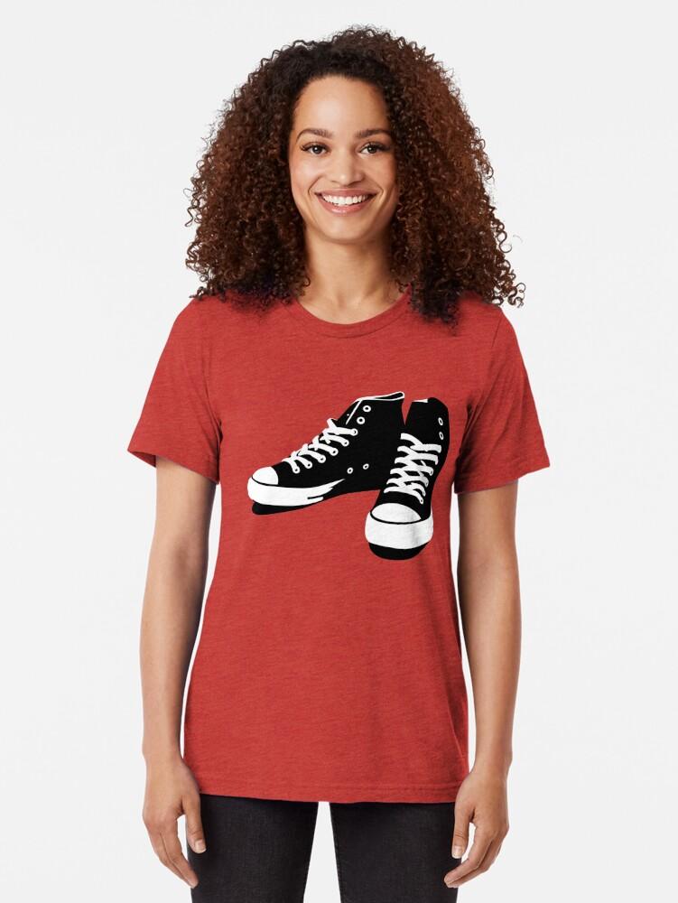 Vista alternativa de Camiseta de tejido mixto Zapatillas negro-blanco