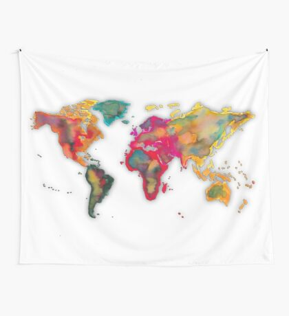 World map 2027 Wall Tapestry