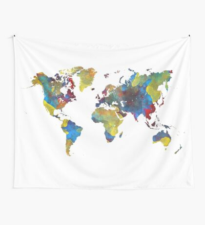 World Map 2050 Wall Tapestry
