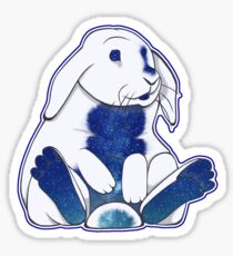 Space Bunny Three Sticker