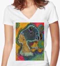 Sistah-VIDA Women's Fitted V-Neck T-Shirt