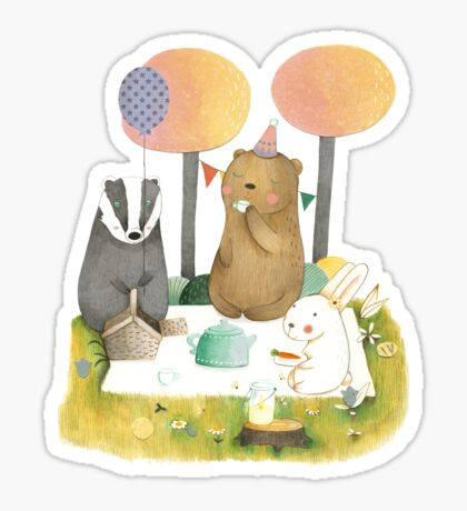 Picnic in the Forest Sticker