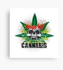 CANNABIS DONT DO DRUGS SKULL Canvas Print