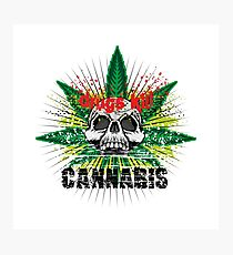 CANNABIS DONT DO DRUGS SKULL Photographic Print