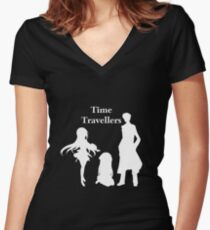 Time Travellers (White Edition) Women's Fitted V-Neck T-Shirt